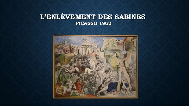 L'ENLÈVEMENT DES SABINES PICASSO 1962