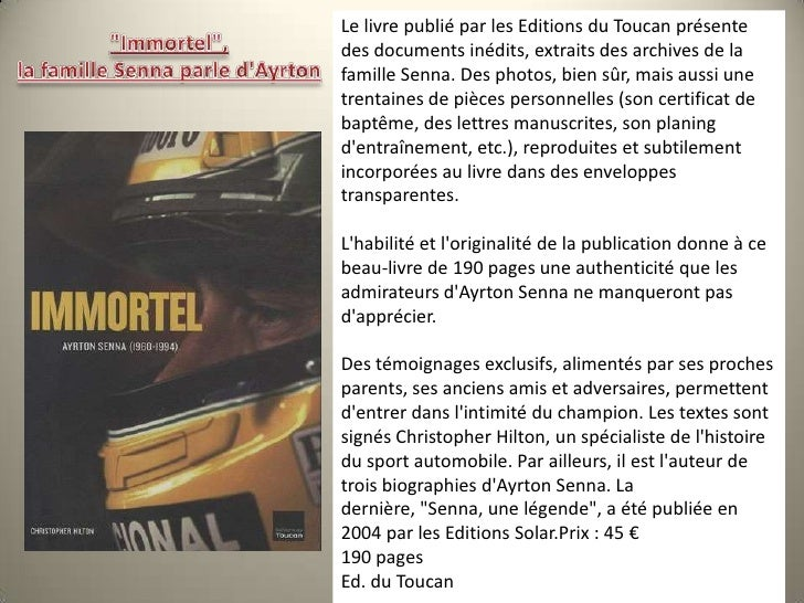 Le livre publié par les Editions du Toucan présente des documents inédits, extraits des archives de la famille Senna. Des ...