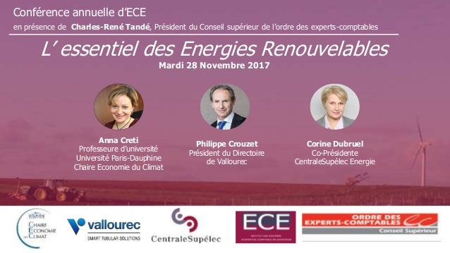 Conférence annuelle d'ECE en présence de Charles-René Tandé, Président du Conseil supérieur de l'ordre des experts-comptab...