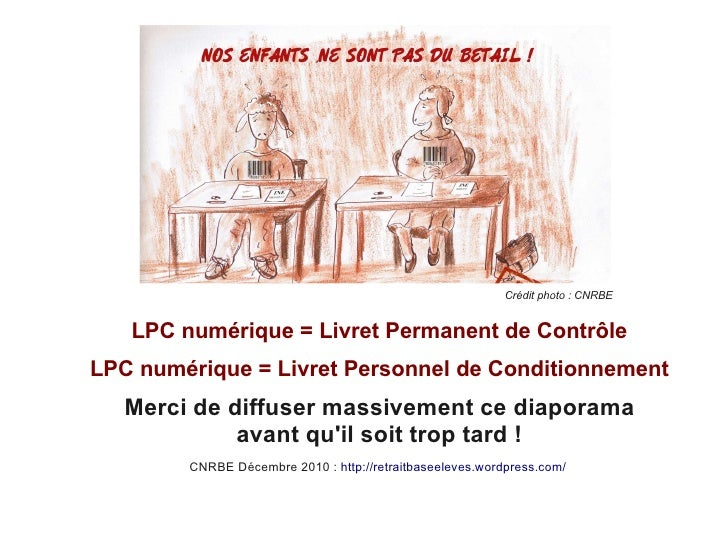 Crédit photo : CNRBE   LPC numérique = Livret Permanent de ContrôleLPC numérique = Livret Personnel de Conditionnement   M...