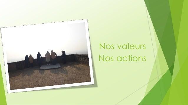 Nos valeurs  Nos actions