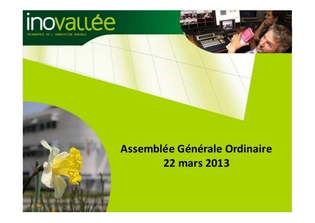 AssembléeGénéraleOrdinaire       22mars2013