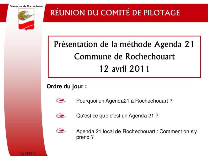 Commune de Rochechouart                           RÉUNION DU COMITÉ DE PILOTAGE                            Présentation de...