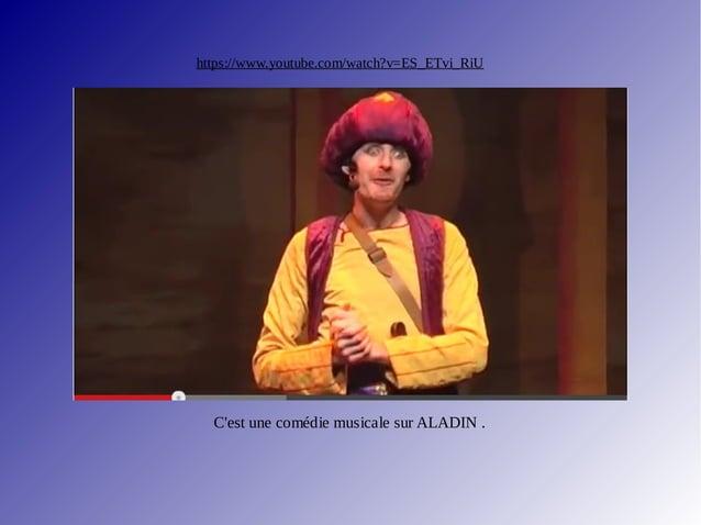 """https://www.youtube.com/watch?v=YXIlPQSWy3Q Morceau de la comédie musicale d' Aladin. Ce titre s'appelle """"Je suis Aladin"""",..."""