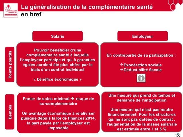 G n ralisation de la complementaire sant en entreprise - Aide a la complementaire sante plafond ...