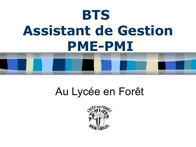 BTS Assistant de Gestion PME-PMI Au Lycée en Forêt