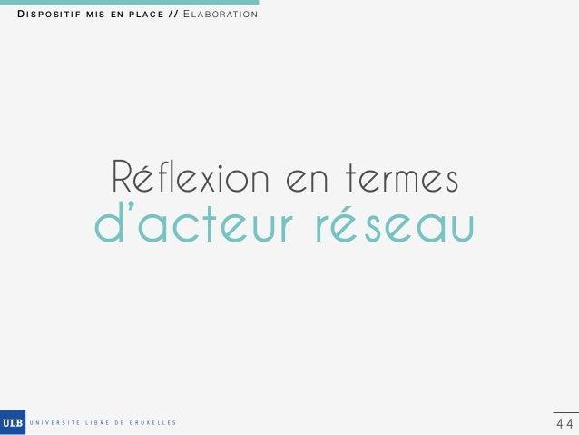 53 C O N C L U S I O N / / Usages des utilisateurs (design-based research) Apports théoriques (Acteur réseau) Equipe pluri...