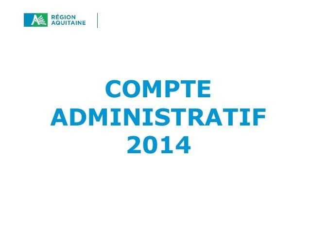COMPTE ADMINISTRATIF 2014