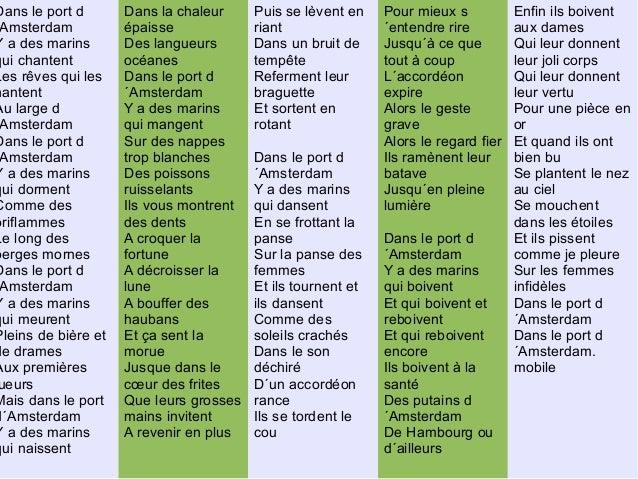 Diaporama chroniques lyc ennes 3 - Jacques brel dans le port d amsterdam lyrics ...