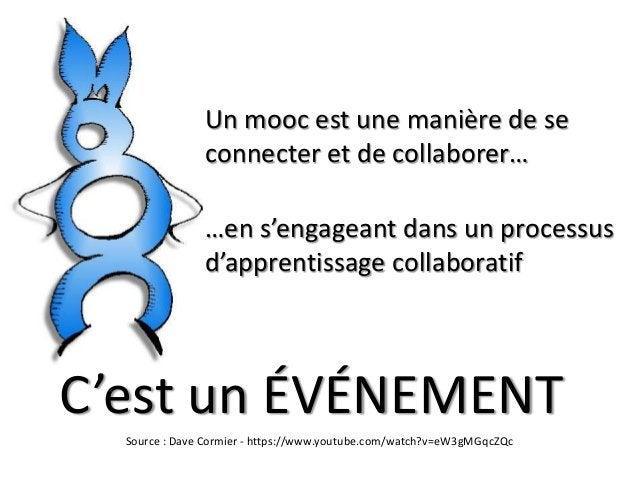Un mooc est une manière de se connecter et de collaborer… …en s'engageant dans un processus d'apprentissage collaboratif C...
