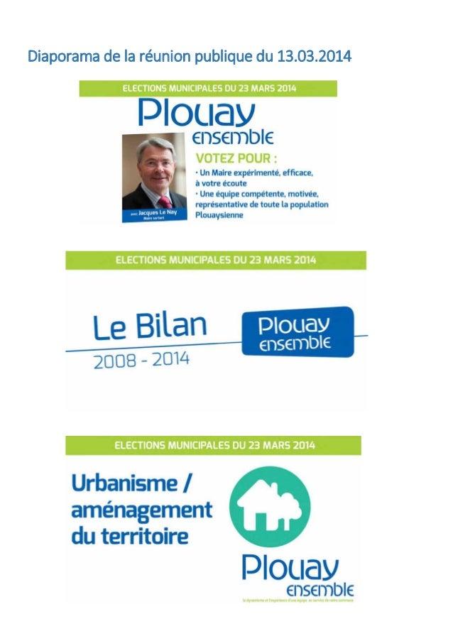 Diaporama de la réunion publique du 13.03.2014