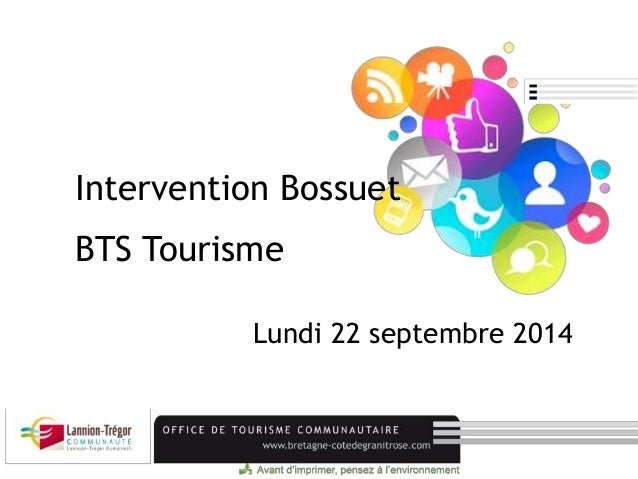 Intervention Bossuet  BTS Tourisme  Lundi 22 septembre 2014