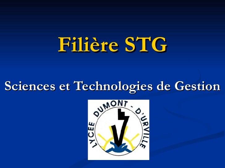 Filière STG Sciences et Technologies de Gestion