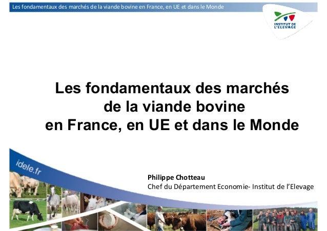LesfondamentauxdesmarchésdelaviandebovineenFrance,enUEetdansleMonde Les fondamentaux des marchés de la vian...