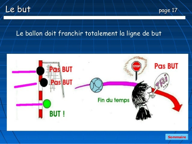 Le but                                             page 17  Le ballon doit franchir totalement la ligne de but            ...