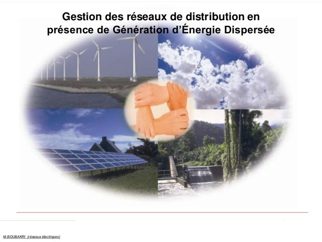 1 M.BOUBAKRI (réseaux électriques) Gestion des réseaux de distribution en présence de Génération d'Énergie Dispersée