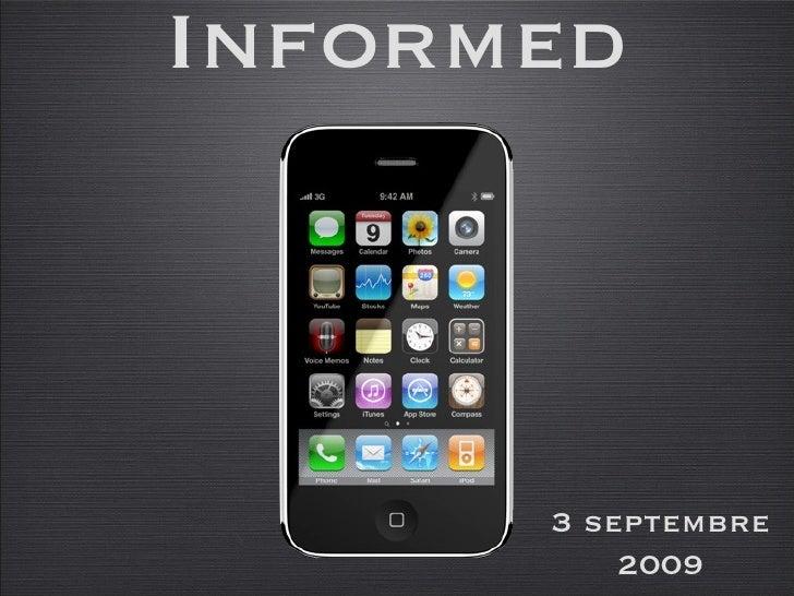 Informed 3 septembre 2009
