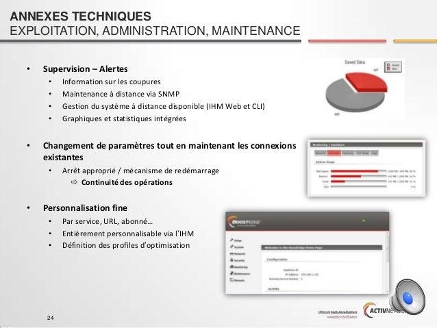 ANNEXES TECHNIQUES EXPLOITATION, ADMINISTRATION, MAINTENANCE •  Supervision – Alertes • • • •  •  Changement de paramètres...