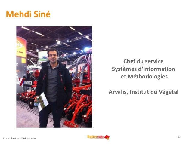 Mehdi Siné 37 Chef du service Systèmes d'Information et Méthodologies Arvalis, Institut du Végétal www.butter-cake.com
