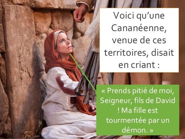 Diaporama Jésus et la Cananénne