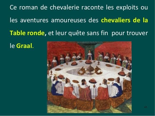 Litt rature au moyen age le roman de chevalerie - Le cycle arthurien et les chevaliers de la table ronde ...