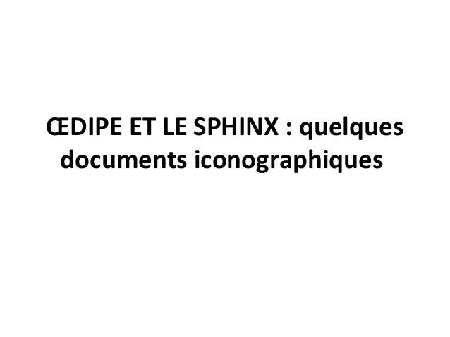 ŒDIPE ET LE SPHINX : quelques documents iconographiques