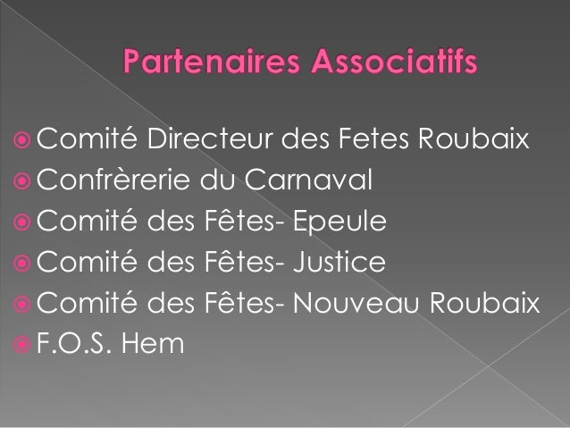 Diaporama partenaires miss roubaix 2014