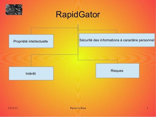 RapidGator    Propriété intellectuelle              Sécurité des informations à caractère personnel                       ...