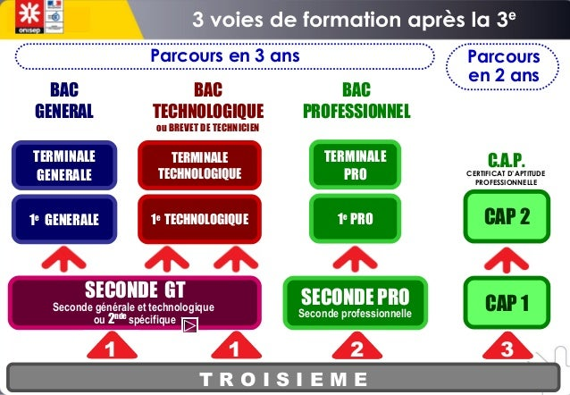diaporama presentation des voies de formation post 3 ieme