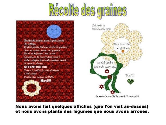 Diaporama présenté par le Club Jardin à Saint Juéry Slide 3