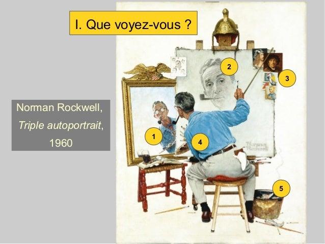 2 3 4 1 5 Norman Rockwell, Triple autoportrait, 1960 I. Que voyez-vous ?