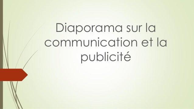 Diaporama sur la communication et la publicité