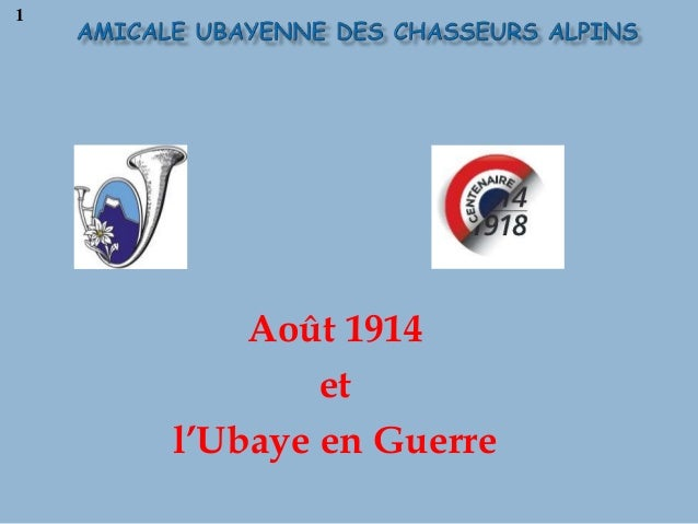 Août 1914 et l'Ubaye en Guerre 1
