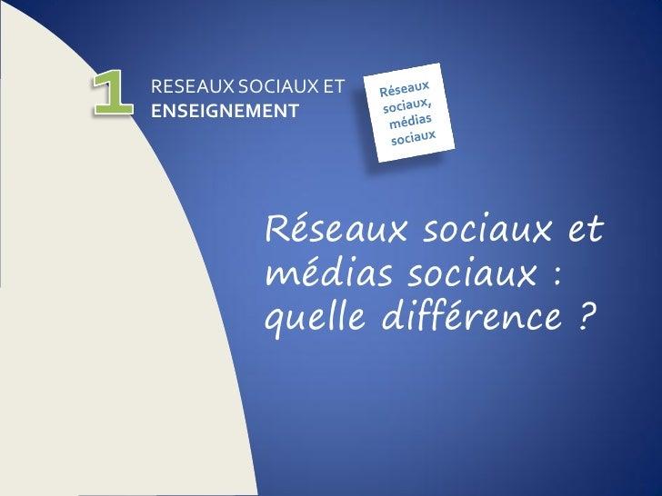 Réseaux sociaux : usages et pédagogie Slide 3