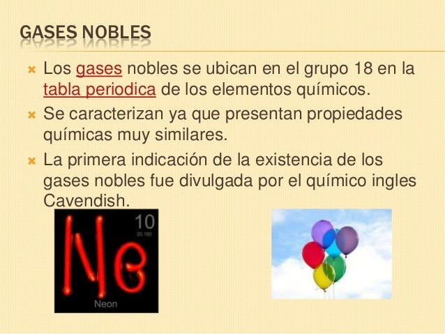 Diapos tabla periodica 29 caractersticas de los gases nobles urtaz Image collections