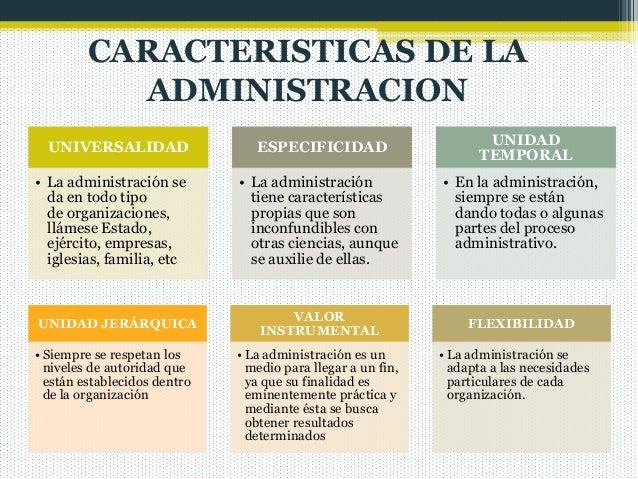 Administracion for La oficina caracteristicas