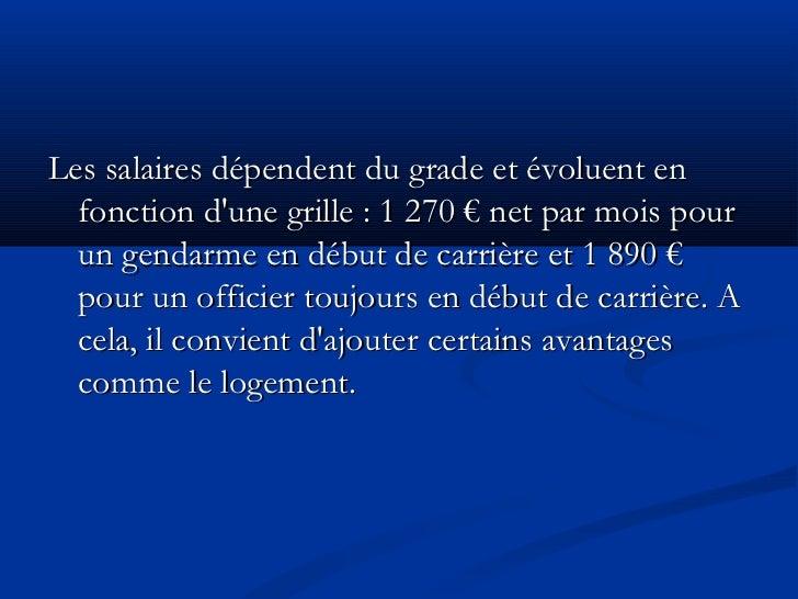 Diapo s curit d fense - Grille indiciaire officier de gendarmerie ...