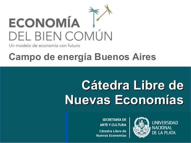 Cátedra Libre deCátedra Libre de Nuevas EconomíasNuevas Economías Campo de energía Buenos Aires