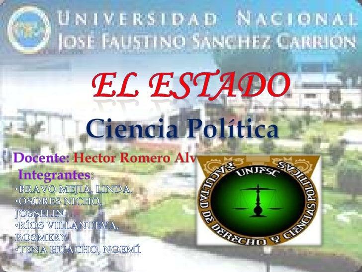 EL                                  «Nación jurídicamente                                                organizada»      ...