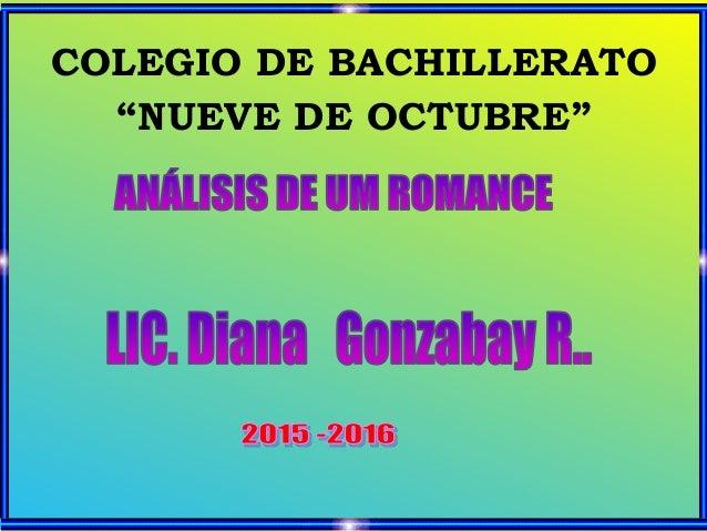 """COLEGIO DE BACHILLERATO """"NUEVE DE OCTUBRE"""""""