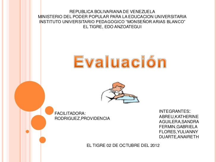 REPUBLICA BOLIVARIANA DE VENEZUELAMINISTERIO DEL PODER POPULAR PARA LA EDUCACION UNIVERSITARIAINSTITUTO UNIVERSITARIO PEDA...