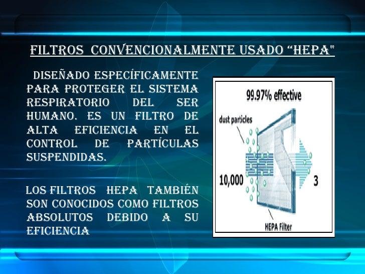 Diapositiva Manejo De Aire Filtros