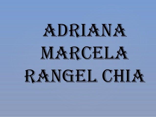 ADRIANA MARCELA RANGEL CHIA