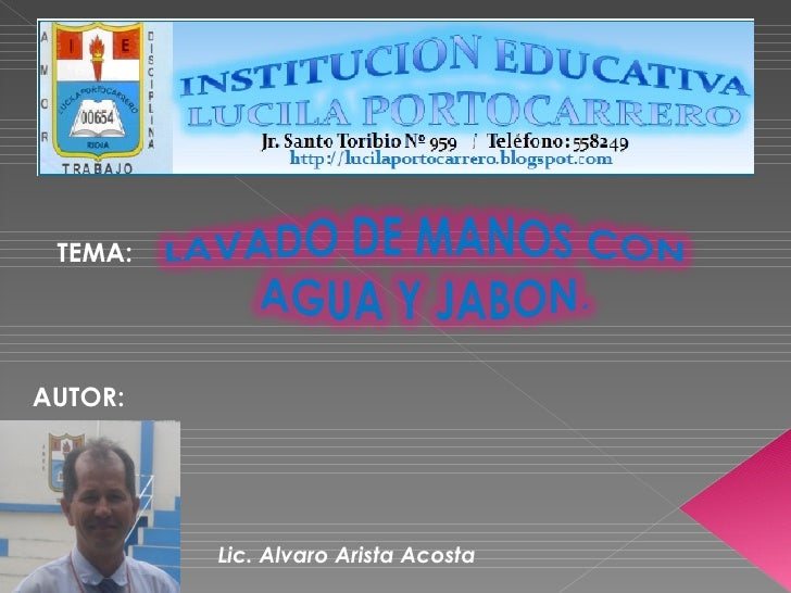 TEMA: AUTOR: Lic. Alvaro Arista Acosta