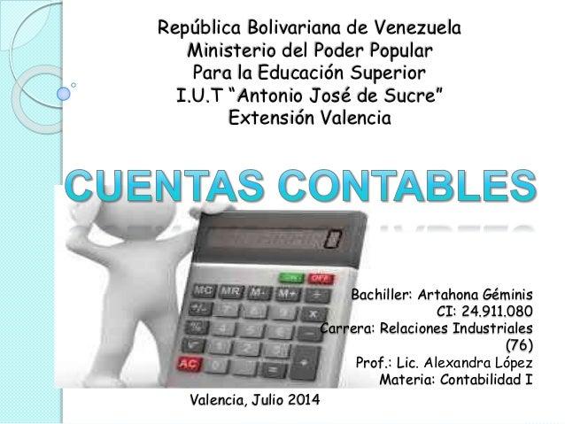 """República Bolivariana de Venezuela Ministerio del Poder Popular Para la Educación Superior I.U.T """"Antonio José de Sucre"""" E..."""