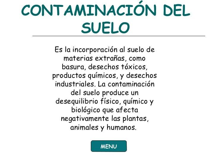 Diapositiva contaminacion ambiental for Informacion sobre el suelo
