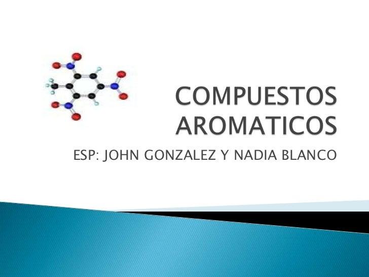 ESP: JOHN GONZALEZ Y NADIA BLANCO