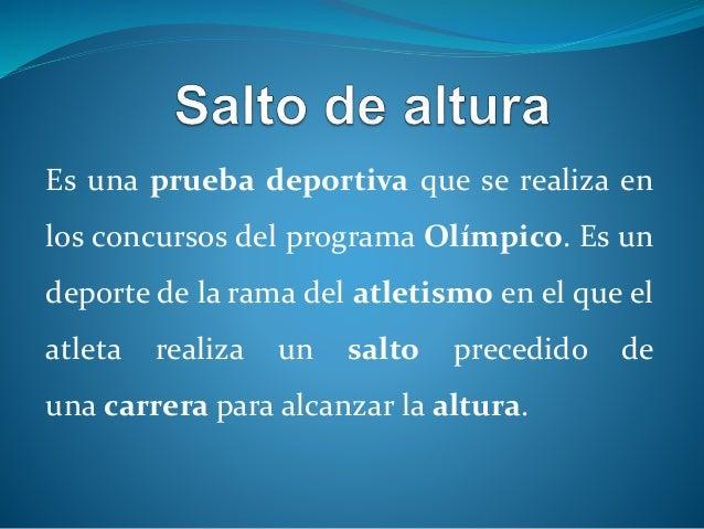Diapositiva de atletismo ii salto de altura Slide 2