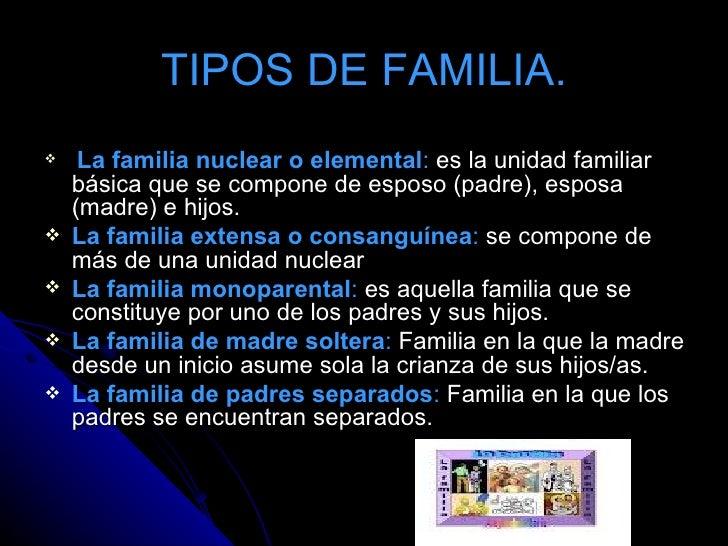 Diapositiva de la familia for Tipos de familia pdf