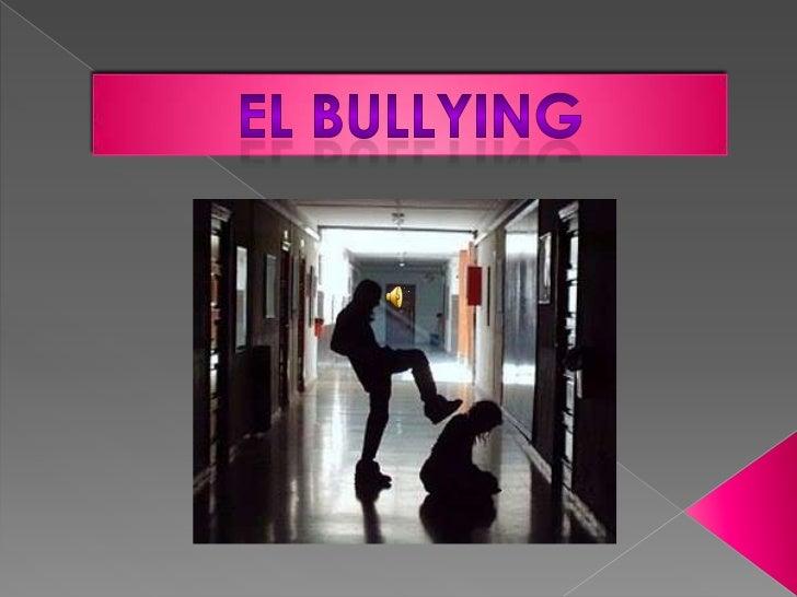 diapositiva del bullying